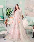 Asian Bridal Royal Bridal Long Lehenga Set Peach SIY543ONS - Siya Fashions