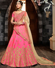 Shop Engagement Pink Silk Lehenga Set SF11024BRI