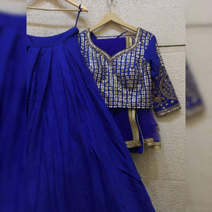 Siya Fashions Client's Diary Heavy Tailored Blue Lehenga SFINS08 - Siya Fashions