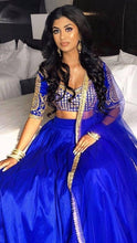Load image into Gallery viewer, Siya Fashions Client's Diary Heavy Tailored Blue Lehenga SFINS08 - Siya Fashions