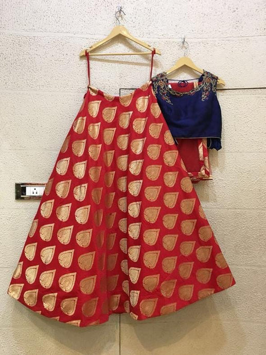 Siya Fashions Fully Stitched Lehenga In Silk SFINS00 - Siya Fashions
