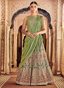 Herculean Banarasi Silk Lehenga With Diamond Work SF6123SD