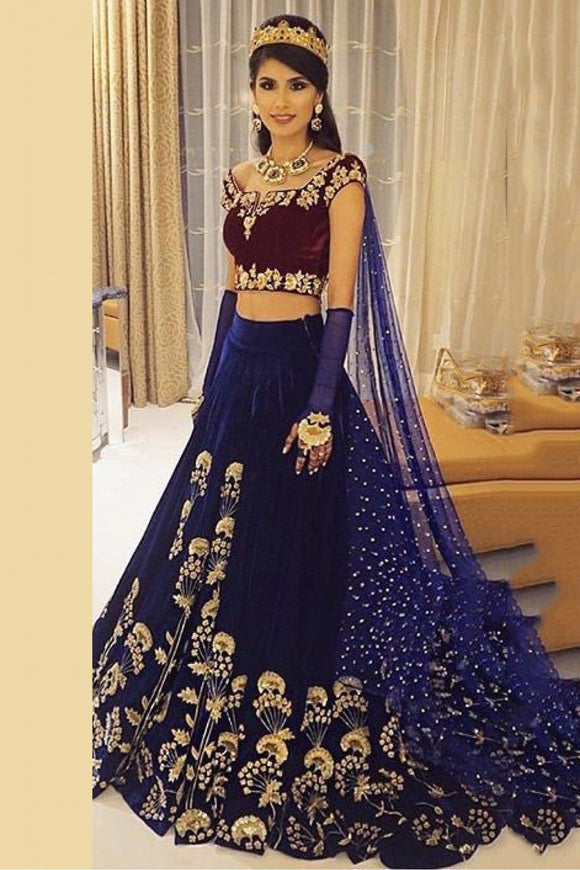 Supreme Velvet Lehenga Choli Crafted Embroidery SF522