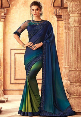 Tanya Navy Multi Party Saree Georgette SIYA556677