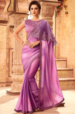 Tanya Purple Party Saree In Silk SIYA556674