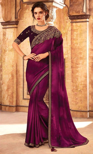 Tanya Reception Wine Party Saree Georgette SIYA556678