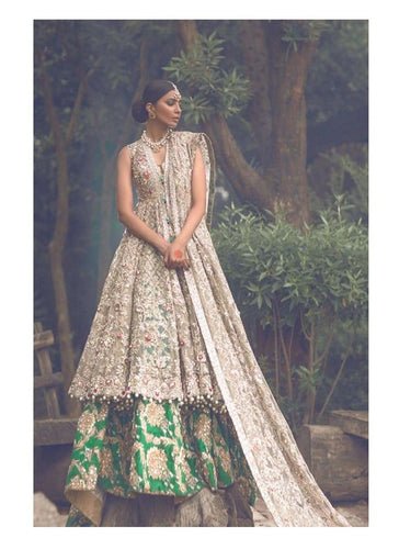 Virtuoso Green Bridal Lehenga In Art Silk SF4421SD - Siya Fashions