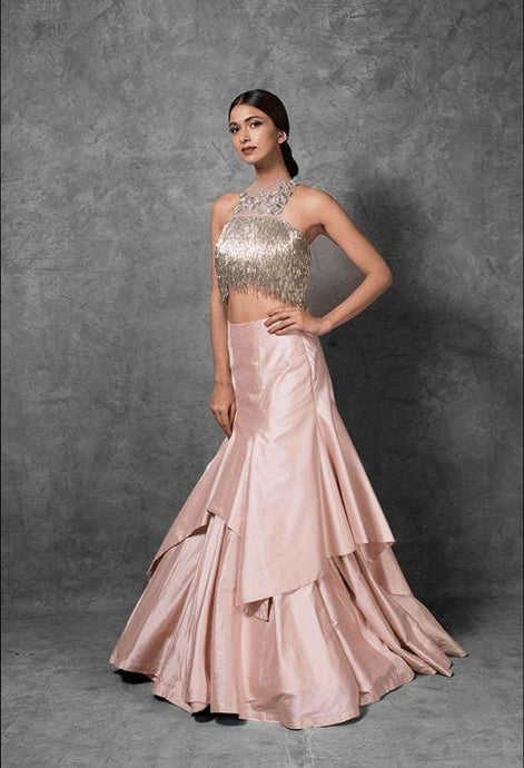 Voguish Cocktail Wedding Reception Lehenga In Silk SFIN1323 - Siya Fashions