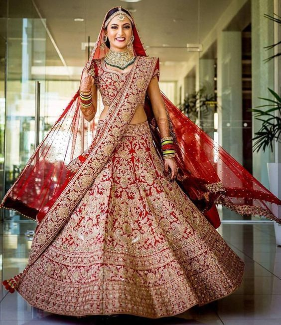Wedding BRIDAL Lehenga Set Double Dupatta SIYA23YDS - Siya Fashions
