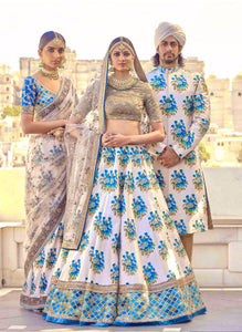 Wedding Banglori Silk Digital Print Lehenga SF1375 - Siya Fashions