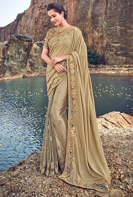 Wedding Saree Net Cut Dana Work SFYD33191 - Siya Fashions
