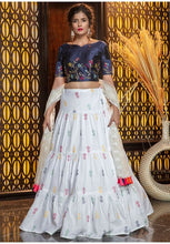 Load image into Gallery viewer, White Color Cotton Fabric Lehenga Choli SYD5429 - Siya Fashions