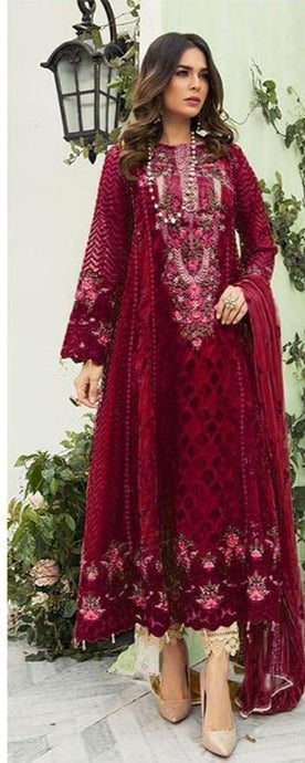 Zona Wine Bridesmaid Party Salwar Pants SIYA4428YDS - Siya Fashions