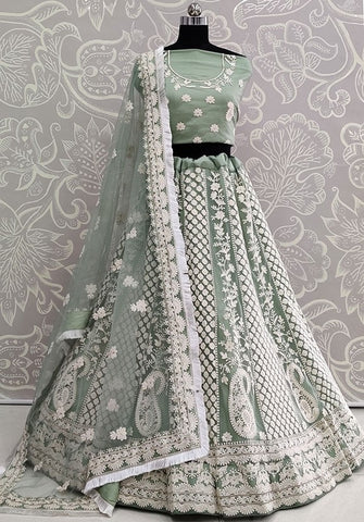 Zubby Green Tassel Wedding Lehenga Choli SIYA3046EXP - Siya Fashions