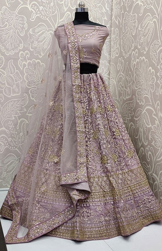 Zubby Net Purple Bridal Lehenga SIYA3003