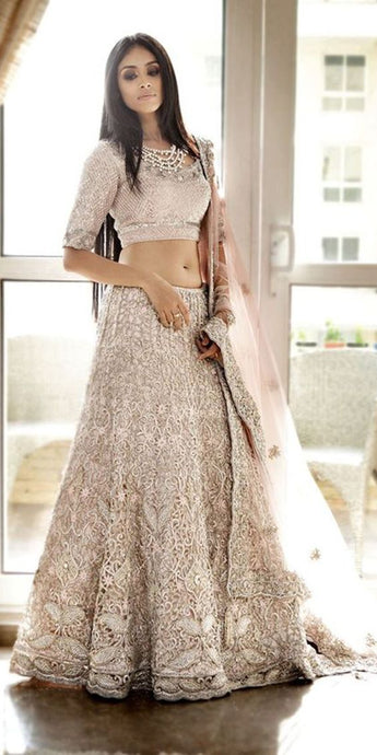 Gold Ivory Wedding Bridal Luxury Rich Lehenga Choli SIYAINS802 - Siya Fashions