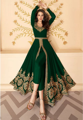 Green Partywear Salwar Kameez Anarkali Suit APR912