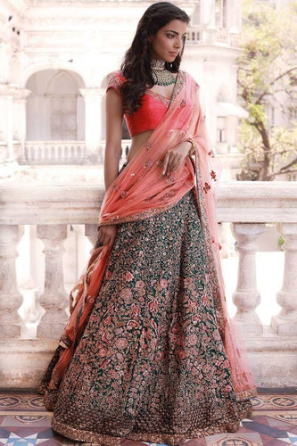 Exclusive Bridal Lehenga Choli In Orange SFB9490 - Siya Fashions