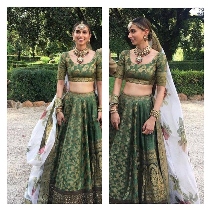 Client's Diary Green Bridal Royal Lehenga SF2925INS