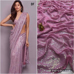 Purple Bollywood Sequined Reception Wedding Partywear Saree BOL1021 - Siya Fashions