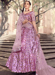 Staggering Pink  Wedding Reception Lehenga Choli Net FZ43045 - Siya Fashions
