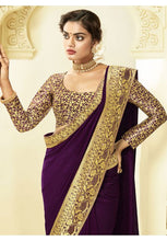 Load image into Gallery viewer, Purple Art Silk Saree With Brocade Blouse YDS1051 - Siya Fashions