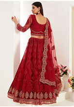 Load image into Gallery viewer, Red Net Reception Evening Lehenga Set Stone Work SF095YDW - Siya Fashions