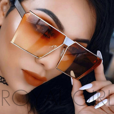 Mirrored Glasses Shield style Sunglasses Women Vintage Oversize Sun glasses - Christopher's apparel