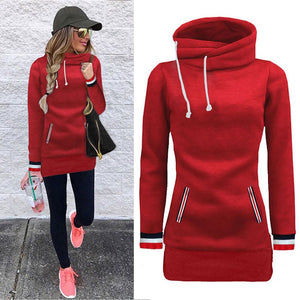 Women Sweatshirt  Autumn Winter Casual Pockets With Velvet Loose Soild Pullover Women Hoodies Coat Plus Size New Arrival