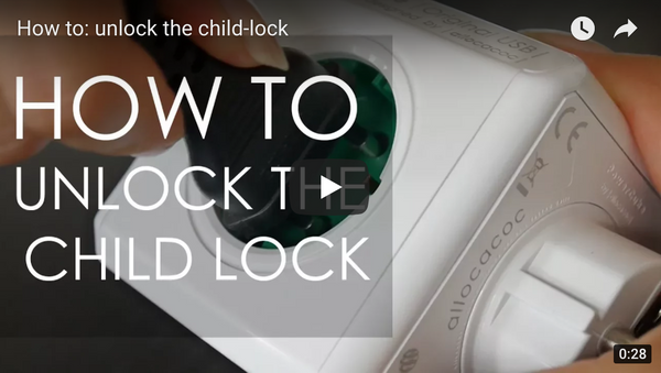 Unlock childlock from PowerCube