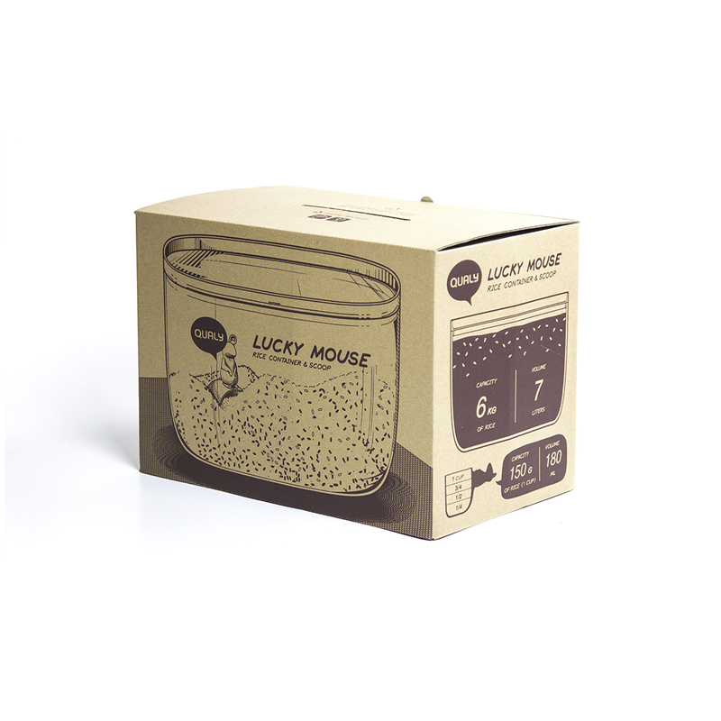 Lucky Mouse Container |Qualy|