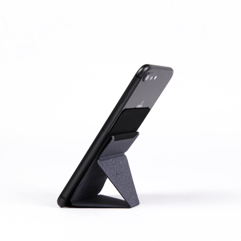 MOFT phone stand with card holder grey