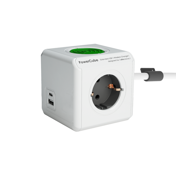 PowerCube Extended USB A+ C |WirelessCharger|