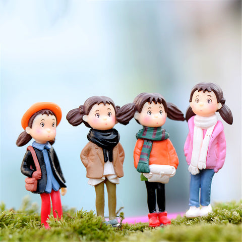 2016 New Style Resin Crafts Home Decorative For Micro Landscape Cute Character Miniature Garden Decoration 4pcs