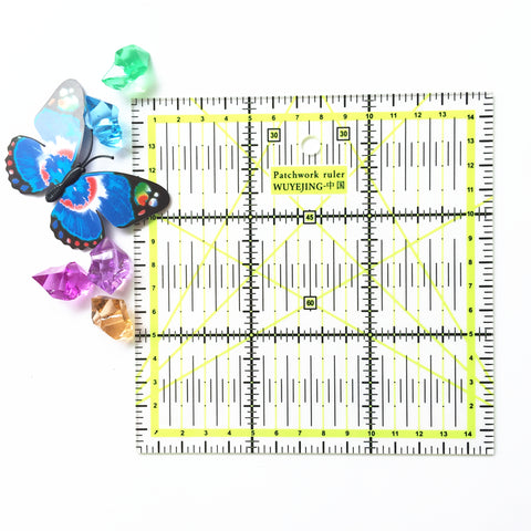 2016 New Rulers 1pcs Home Garden Arts Crafts Sewing Needle Arts Craft Sewing Tools Accessory 15 * 15cm*0.2cm Patchwork Ruler