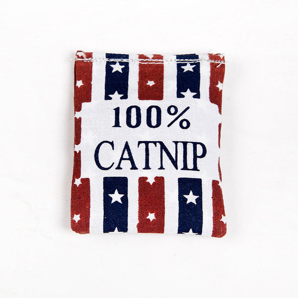 100% Linen Square Shape Catnip Bags Catnip Toys Different Colors Supply Cat Love It Pet Catnip Supply Pet Cat Training