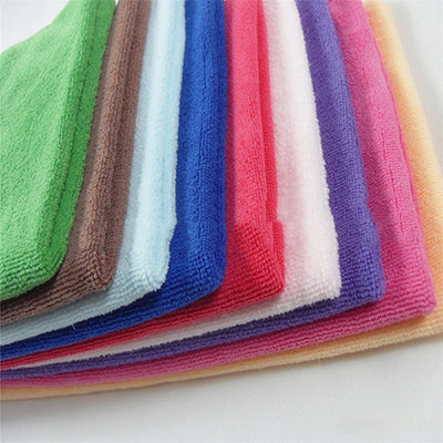 10pcs Square Soft Microfiber Towel Car Cleaning Wash Clean Cloth Microfiber Care Hand Towels House Cleaning
