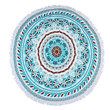 100% Cotton Thick Round Beach Towel Fashion Hippie Mandala Bohemian Tapestries Wall Hanging Tapestry Dorm Decor Beach Blanket