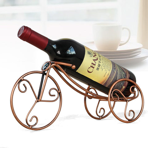 Iron Wine Bottle Holder Wine Rack Home Decoration Ornaments Crafts Rack Shelf for Home Party Restaurant