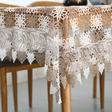 1 Piece Fashion Pastoral Lace Table Cloth/ European Household Lace Tablecloth/ Creative Home Furnishing Desktop Decoration