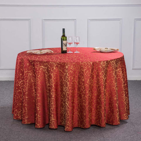 New Luxury Crocheted Gold Leaf Red Round Table Cloth For Hotel Restaurant  Decor Rectangle Washable Tablecloth ...