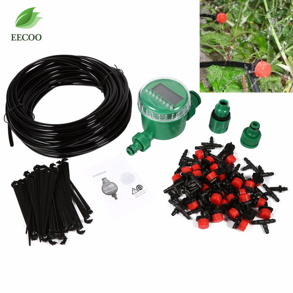 1 Set 20m Automatic Timer Plant Self Watering Drip Garden Irrigation Micro System Garden Dripper Hose Kits