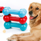 1 Pcs Dog Chew Toy Tpr Floating Sound Bones Dogs Interactive Security Lambswool Blue Red Squeak Funny Pet Toy