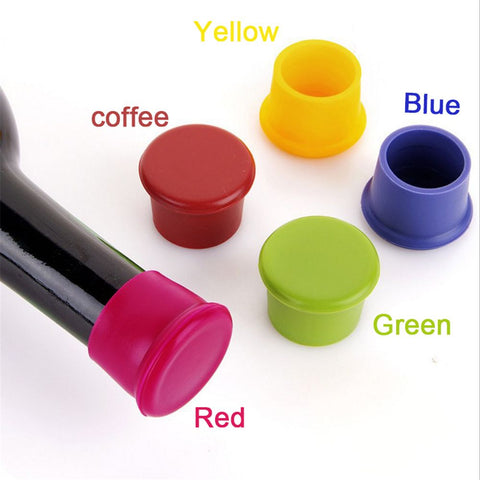 1PC Wine Bottle Stopper Silicone Bar Tools Preservation Wine Stoppers Kitchen Wine Champagne Stopper Beverage Closures