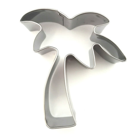 AMW Coconut Tree Shape Stainless Steel Cookie Cutter Metal Baking Biscuit Mold Kitchen Tools