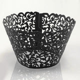 10pcs/lot Laser Cut Cupcake Wrappers Cake Cup Wraps Wedding Birthday Hoilday Party Supplies Home Decoration Tools