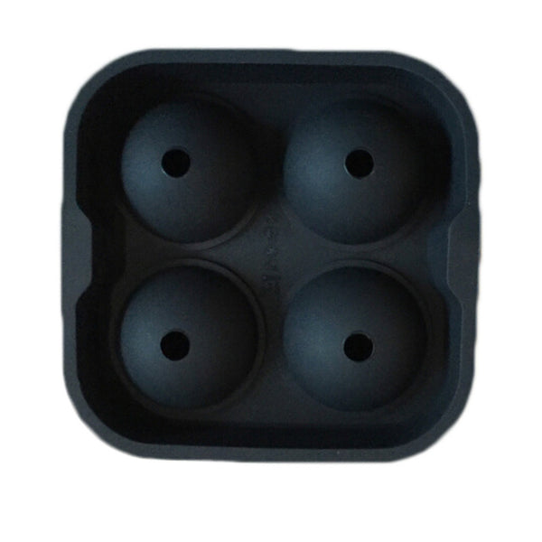 1 Piece!!! 4 Hole Ice Cube Ball Drinking Wine Tray Brick Round Maker Mold Sphere Mould Party Bar Silicone Ice Hockey Maker