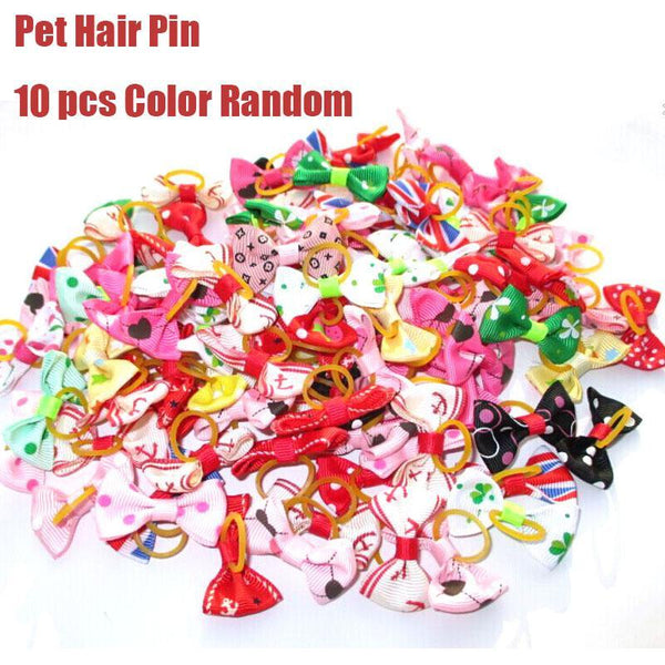 10pcs/lot Dog Hairpin Supplies Cute Pet Hair Bows Pets Hair clip Grooming Accessories decoration For Small Puppy Kitten 4
