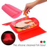 1 pcs Home Kitchen Cooking Bowl Microwave Oven Steam Silicone Healthy Cooking Tools Lunch Bowl durable Folding Steamer A35