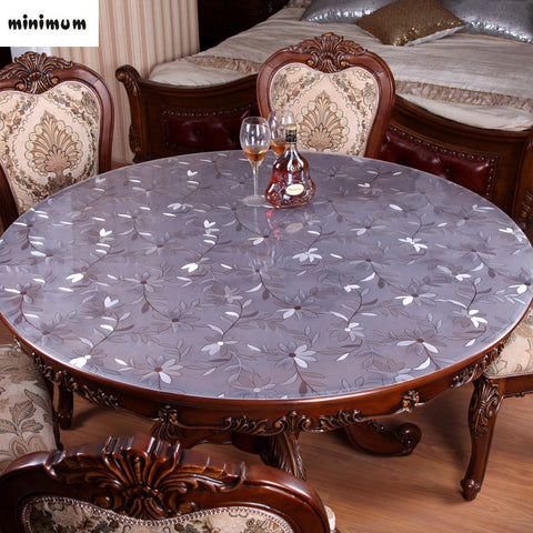 Waterproof Round Table Cloth Soft Glass PVC Transparent Plastic 2mm Thicker  Table Mat Crystal Tablecloth Coffee ...